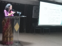 Assistant Commissioner giving a talk on TDS